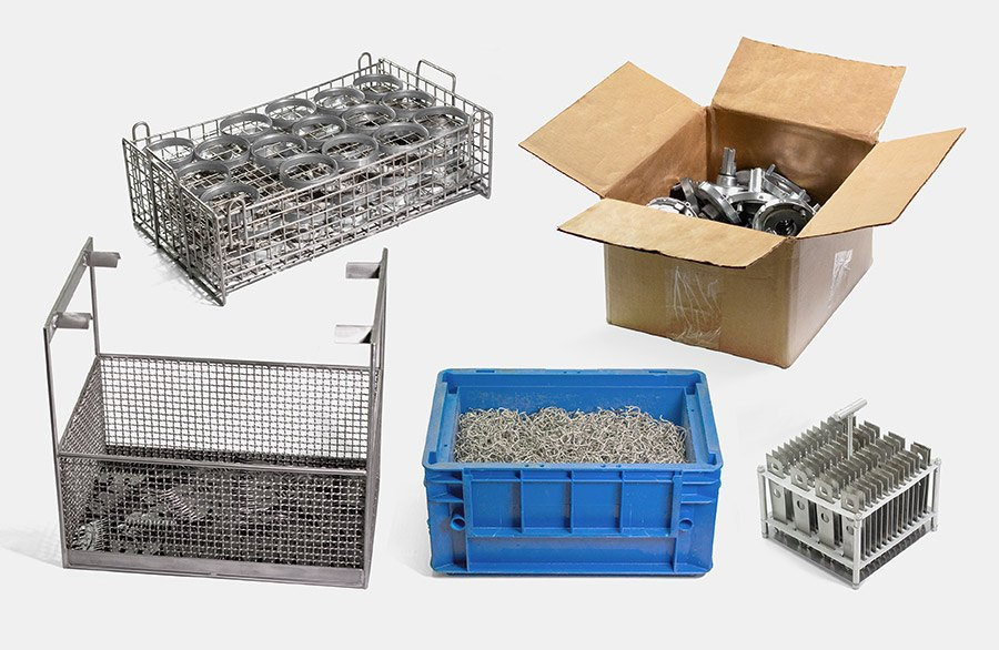 Gesmolten productportfolio van diverse staven en buisprofielen. Wapeningsstaven, L-profielen of verschillende vierkante profielen kunnen efficiënt gedemagnetiseerd worden met de demagnetisator RE.
