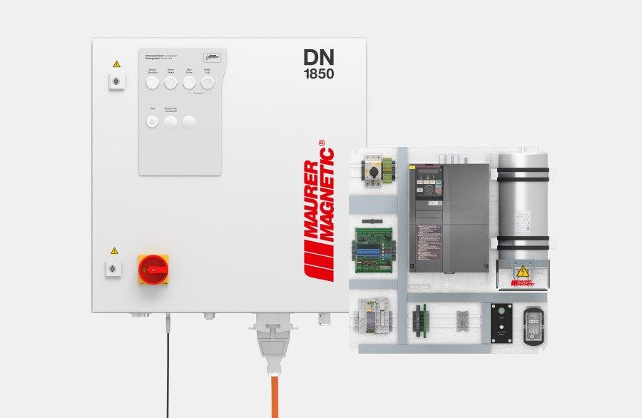 Leistungsmodul DN alleinstehend und die DN-Integrationsvariante für Entmagnetisierer der Maurer Magnetic.