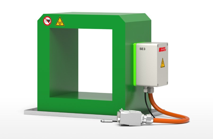 SE - Demagnetizing suitable for the demagnetization of common washing baskets.