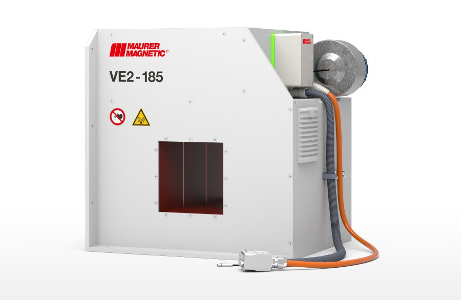 VE - Powerful demagnetizing coil for components or assemblies in large quantities or with hard magnetic fields. Suitable for compliance with residual magnetism limits.