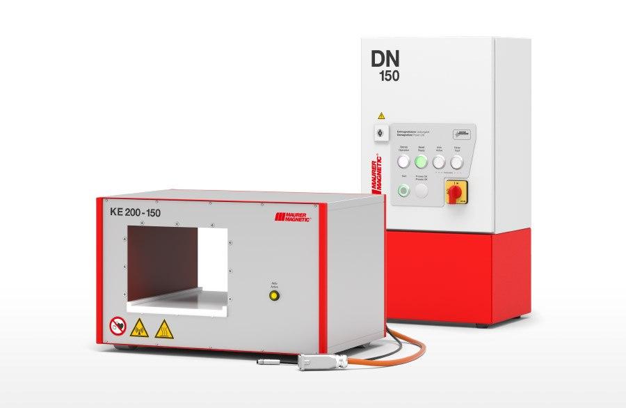 Gerenderte Entmagnetisierspule Typ KE und Leistungsmodul DN150.