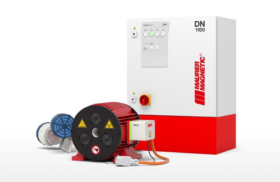 Gerenderte Entmagnetisierspule Typ RE und Leistungsmodul DN1100.