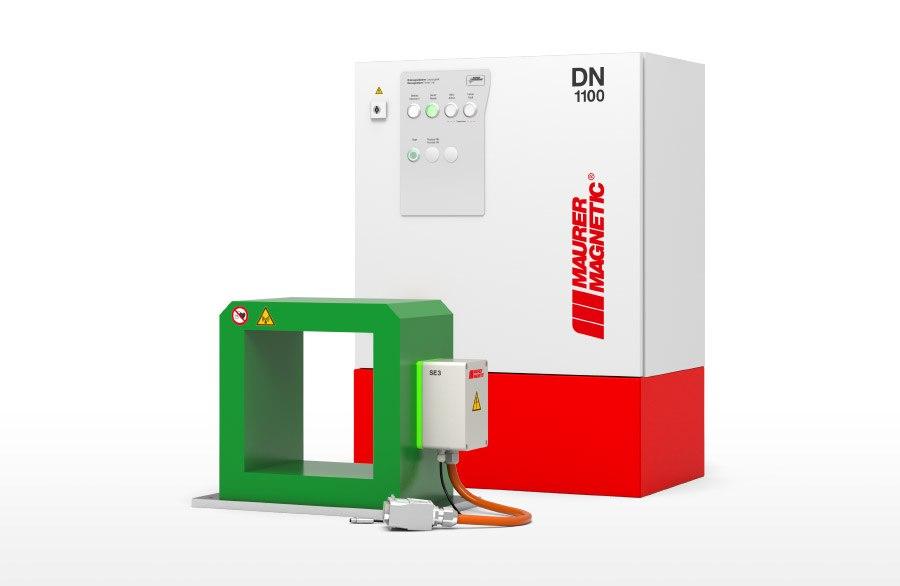 SE + DN Entmagnetisier-Anlage. Optimiert für gängige Waschkorbgrössen. Entmagnetisierung im Pulsbetrieb oder im Durchlaufverfahren.