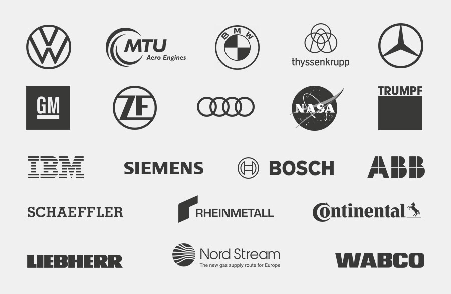 Aperçu des entreprises renommées qui font confiance aux installations de démagnétisation, aux aimants ou aux systèmes magnétiques de Maurer Magnetic.